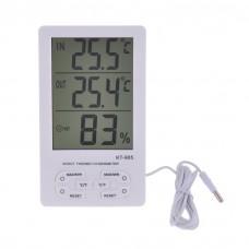 Modern típusú kültéri beltéri  hőmérő és páratartalom mérő