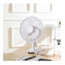 Csíptetős asztali ventilátor 18 cm 20 W fehér