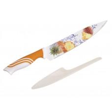 Mintás kés pengevédővel (ananász)